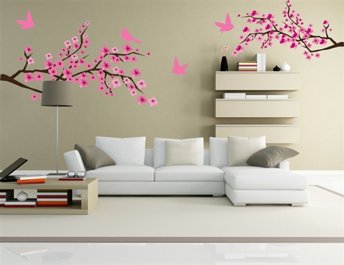 Exceptionnel Branches With Birds S4x8488209 Vinyl Wall Art Decal Peel And Stick Sticker