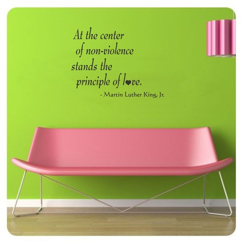 stand principle quote wall decal. At The Center Of Non-violence Stand Principle Love. Martin Luther King Quote Wall Decal O