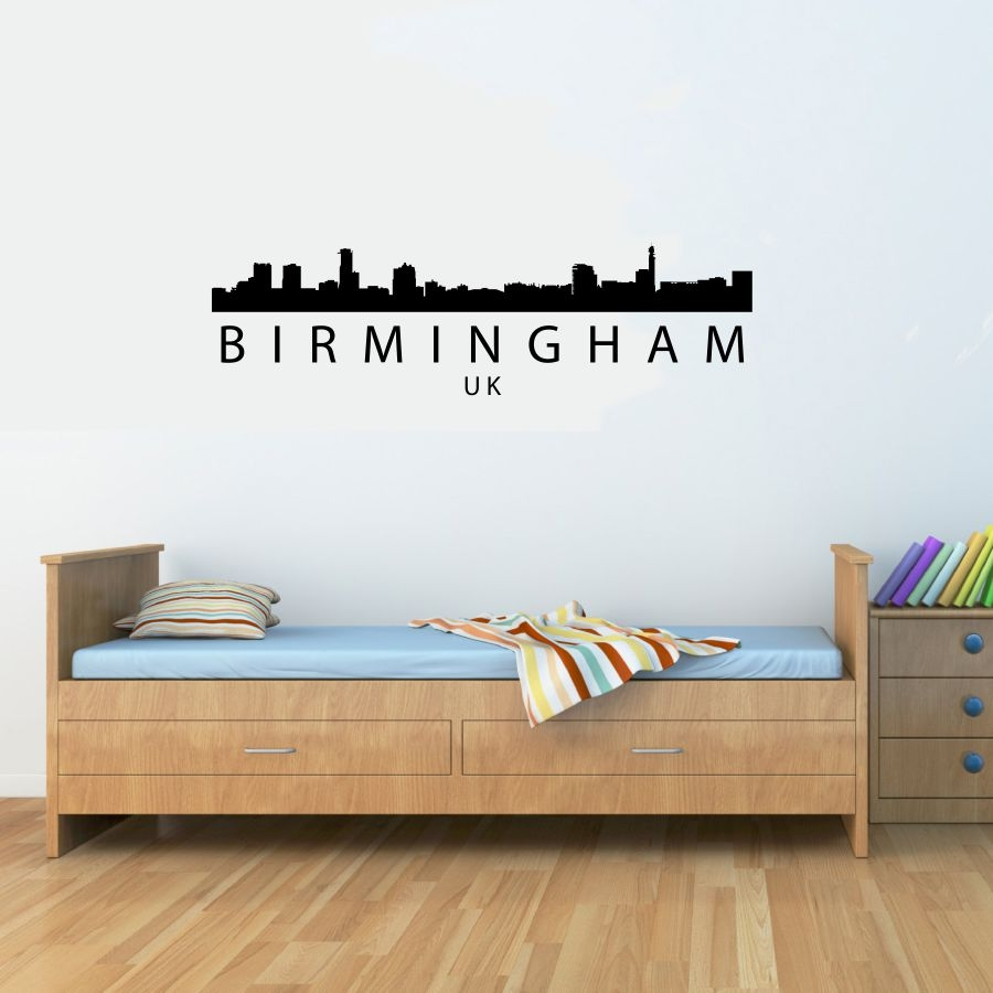 birmingham uk skyline vinyl wall art decal sticker. Black Bedroom Furniture Sets. Home Design Ideas