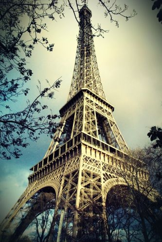 Eiffel Tower Paris France vinyl wall mural wall mural wall art
