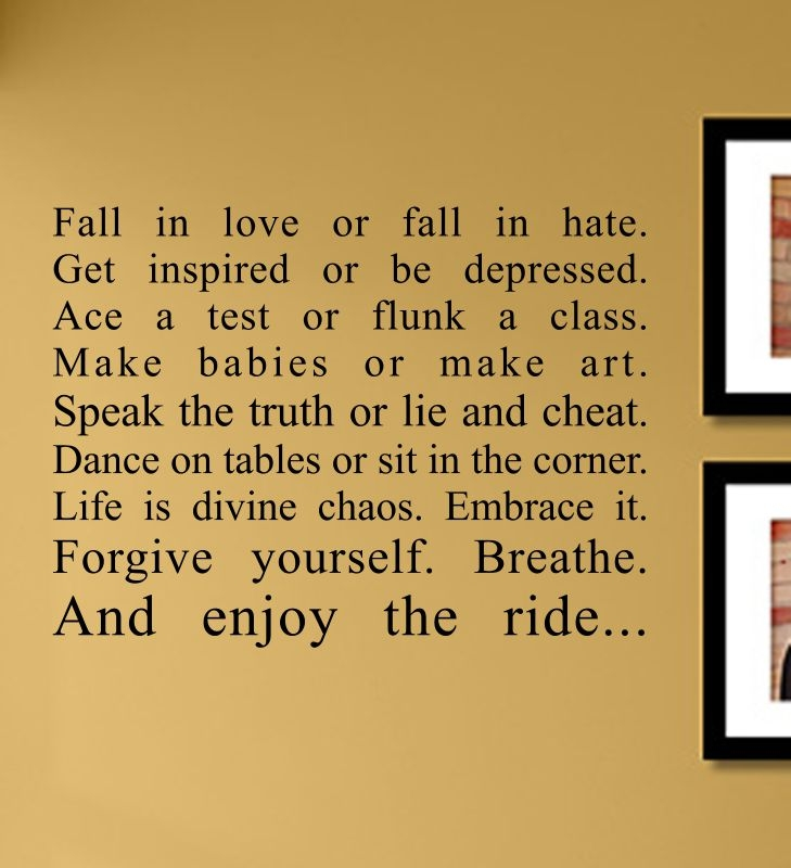 Fall in love or fall in hate. Get inspired or be depressed. ace a ...