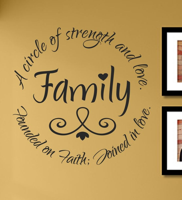 Family A Circle Of Strength And Love Founded On Faith