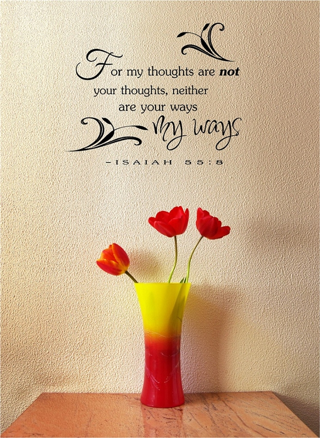 For My Thoughts Are Not Your Thoughts Neither Are Your