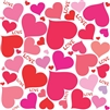 Hearts and Love Vinyl Wall Art Decal Peel and Stick Sticker