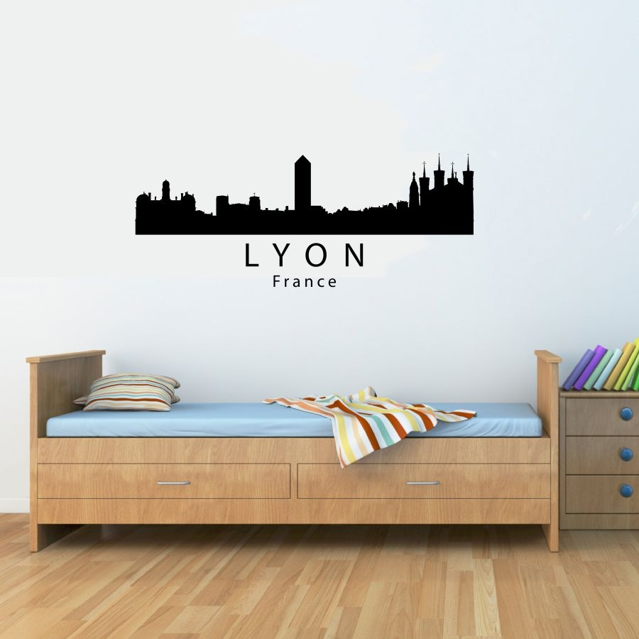 lyon france city skyline vinyl wall art decal sticker