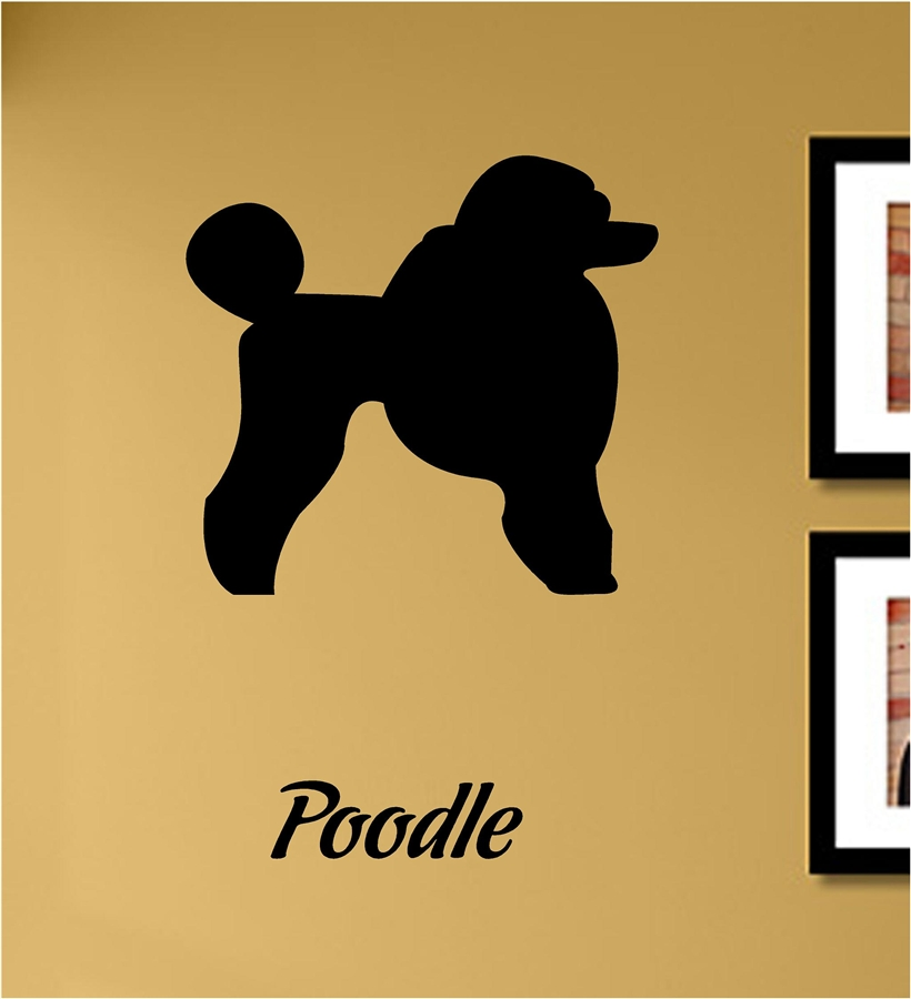 Poodle Silhouette Vinyl Wall Art Decal Sticker