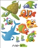 Sea Life Creatures fishes, turtle, sharks, and more!  Vinyl Wall Art Decal Peel and Stick Sticker