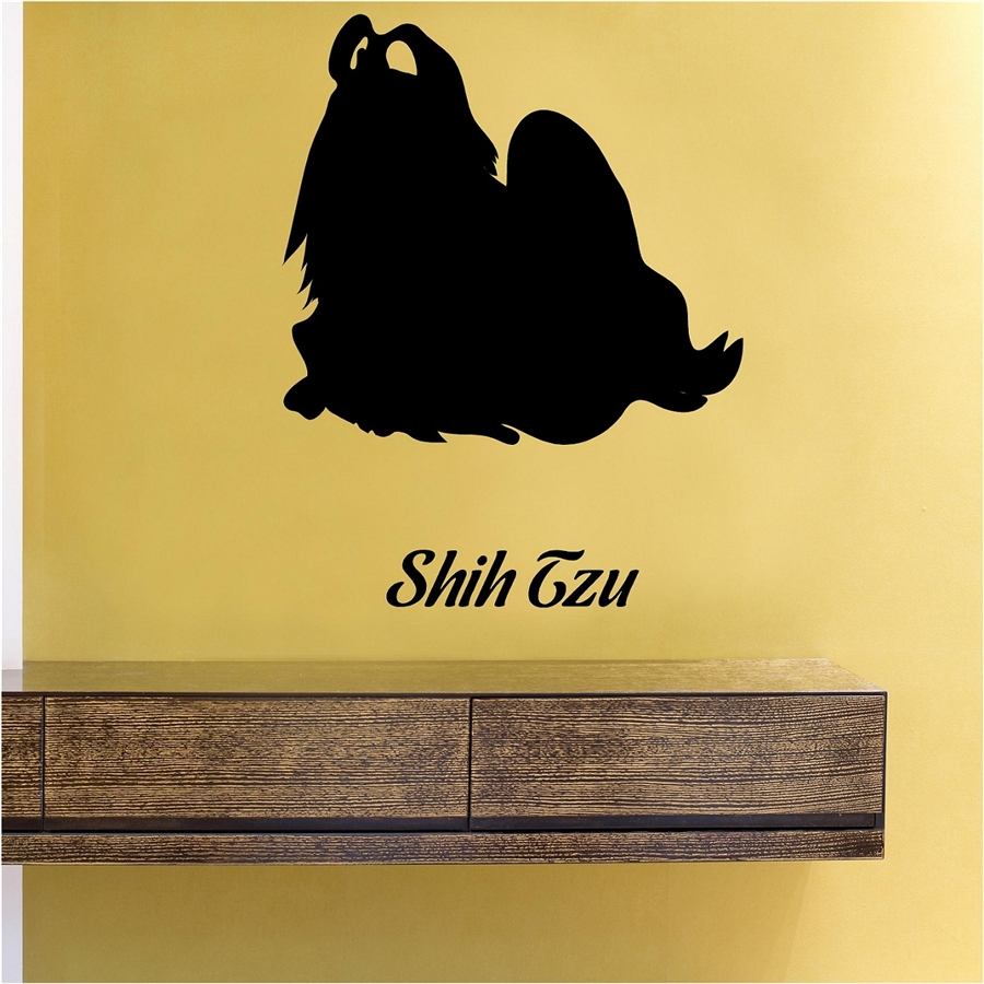 Shih Tzu Silhouette Vinyl Wall Art Decal Sticker