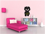 Teddy Bear Girl Chalkboard Vinyl