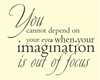 You cannot depend on your eyes when your imagination is out of focus Vinyl Wall Art Decal Sticker