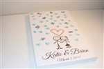 Thumbprint Fingerprint Wedding Canvas Guest book S9x38822 Stick Figure Couple - Guest book alternative for weddings, birthdays, baby showers, and more!