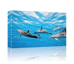 Dolphins in water GALLERY WRAPPED CANVAS