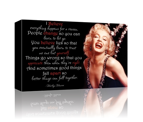 Marilyn Monroe I Believe Gallery Wrapped Canvas Marilyn