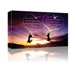 The moment I heard my first love story GALLERY WRAPPED CANVAS
