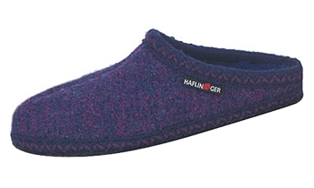 Haflinger - Soft sole slippers - PURPLE SPECKLE