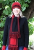 Lothlorian - Koru scarf - red/black