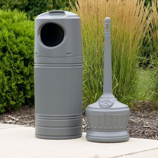 Outdoor Commercial Trash Can And Ashtray