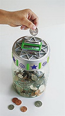 Digital coin money jar bank - Coin sorting piggy bank ...