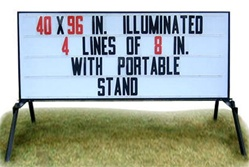 Lighted Portable Message Board