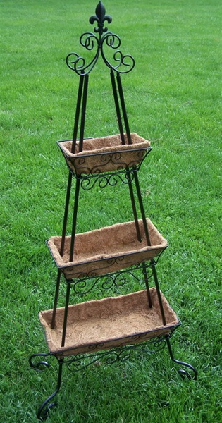 New Three Tier Plant Stand Planter With Fiber Inserts
