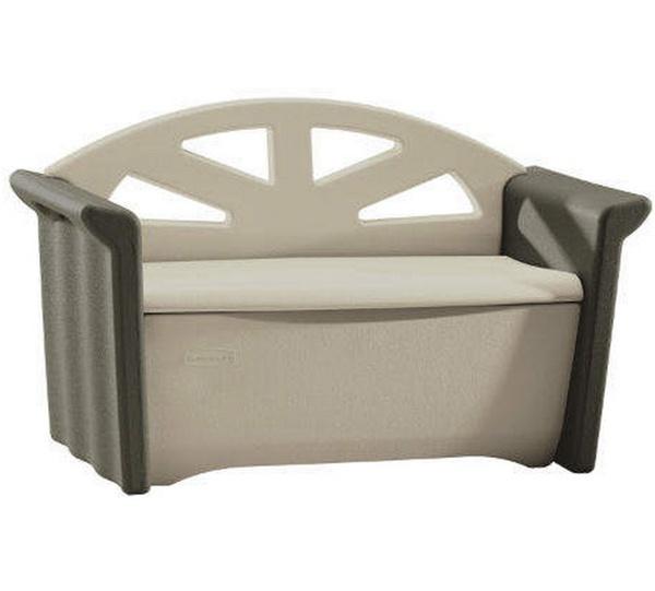 53 X 24 Rubbermaid Plastic Deck Storage Box Bench