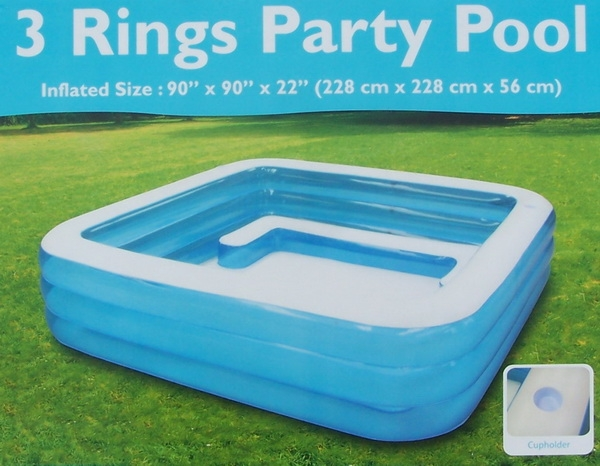 New 7 5 39 x 7 5 39 x 22 square inflatable swimming pool - Piscine gonflable adulte ...