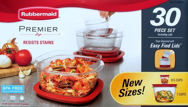 Rubbermaid Premier Food Storage 30 Piece Set Listitdallas