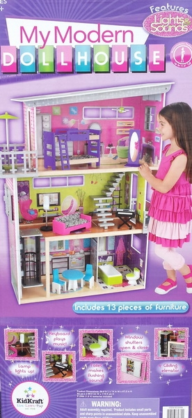 KidKraft 3 Story Wood Dollhouse My Modern Mansion Doll House 13