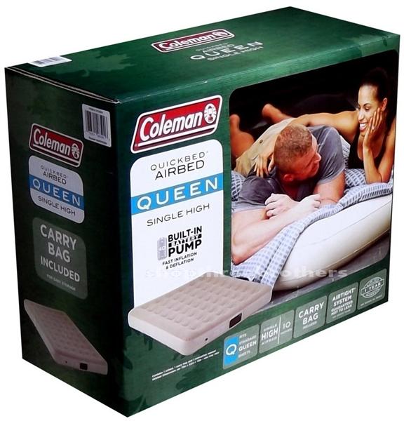 queen size air mattress coleman