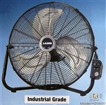 "Floor Fan with Wall Mount Bracket 20"" Commercial 3 Speed High Velocity"