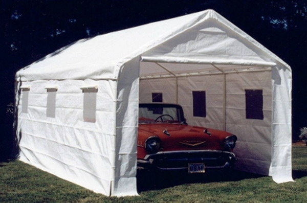 Vehicle Storage Tents : Quot x car port storage canopy tent garage with walls