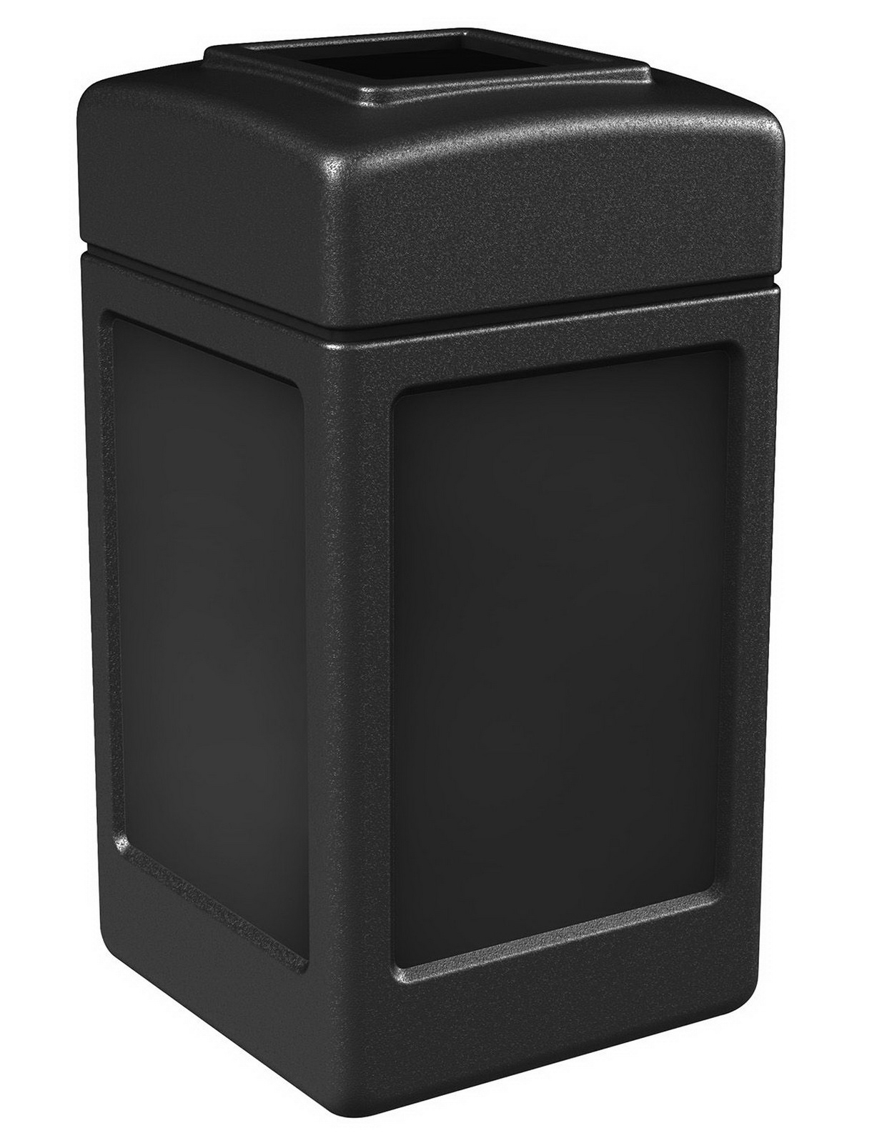 square trash can - Outdoor Trash Cans