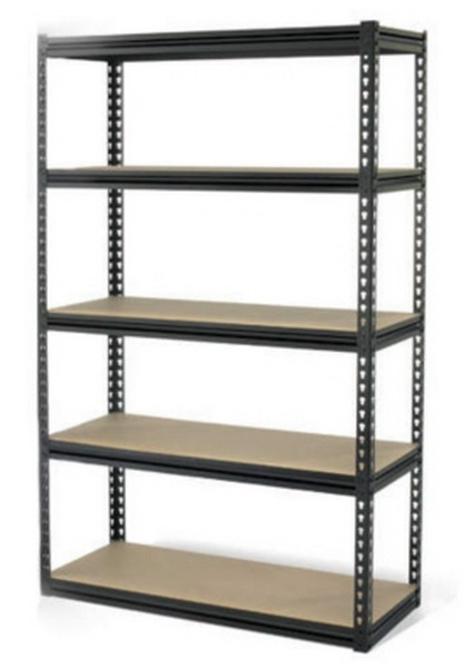 Large 5 Tier Adjustable Shelving Black Steel Gorilla Rack