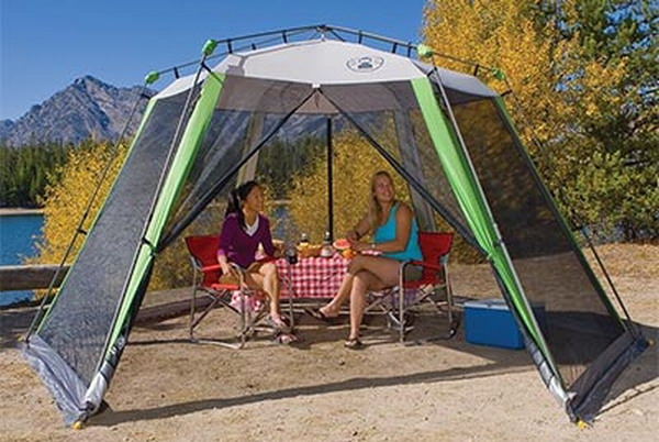 Free ... & Large Coleman Screen House Tent 15u0027 x 13u0027 Canopy Mesh Walls