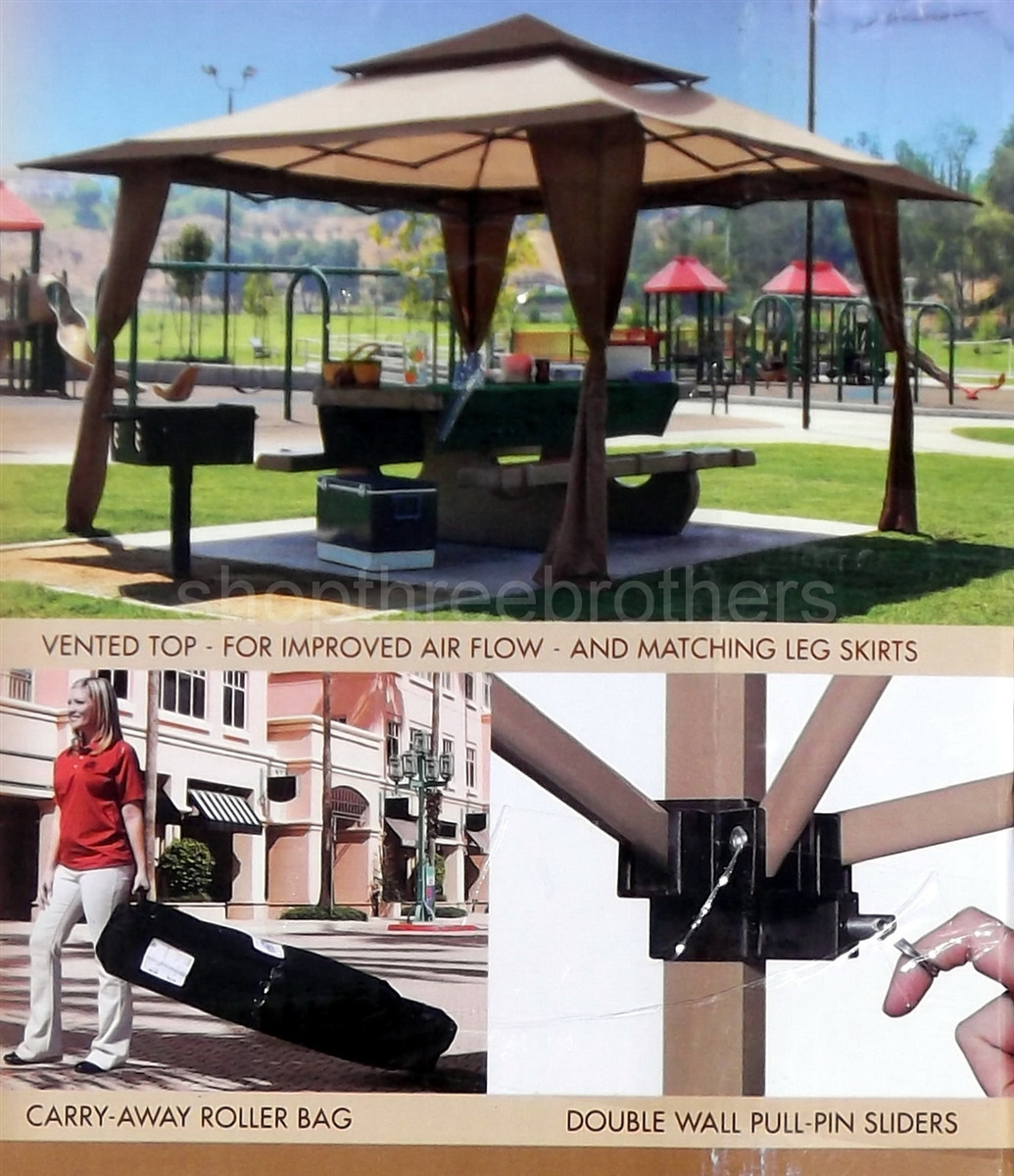 Free ... & Huge EZ UP Canopy Pagoda Shade Shelter 13u0027 x 13u0027 Pop Up Tent