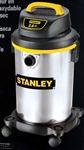 New Stanley 4 Gallon 2.8 HP Stainless Steel WET DRY VAC