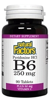Pyridoxine HCl B6 250mg - 90 tablets - Natural Factors