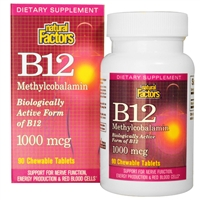 B12 Methylcobalamin 1,000mcg - 90 tablets - Natural Factors