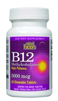 B12 Methylcobalamin 5,000mcg - 60 tablets - Natural Factors