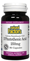 D'Pantothenic Acid 250mg - 90 Caps - Natural Factors