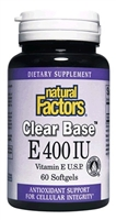 Vitamin E Clear Base 400 Iu - 60 Softgels - Natural Factors