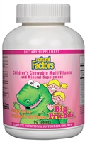 Big Friends Chewable Jungle Juice - 90 Chewable Tabs - Natural Factors