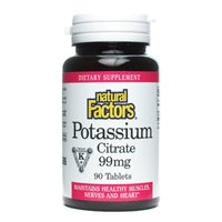 Potassium Citrate 99mg - 90 Tabs - Natural Factors