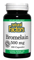 Bromelain 500mg - 180 Caps - Natural Factors