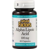 Alpha-Lipoic Acid 100mg - 60 Caps - Natural Factors
