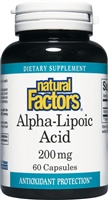 Alpha-Lipoic Acid 200mg - 60 Caps - Natural Factors