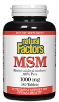 MSM 1000mg - 180 Tabs - Natural Factors