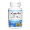 L-Carnitine 500mg - 60 Veg Caps - Natural Factors