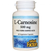 L-Carnosine 500mg - 60 Veg Caps - Natural Factors