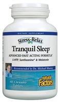 Stress-Relax Tranquil Sleep - 60 Chewable Tabs - Natural Factors